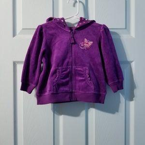 |nwot|•arizona velour zip-up hoodie 18mos•